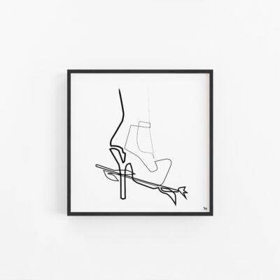 high heels woman, sexy, sensual art poster print, bedroomart