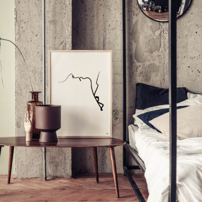 kus in de nek, lijn kunst, lijntekening, wanddecoratie, interieur, poster, RIJK_creatievestudio_Neckkiss_RYKIA45024