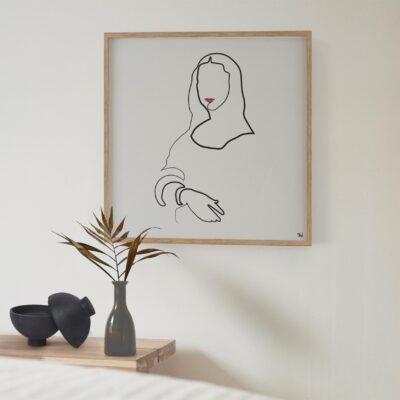 mona Lisa, abstract art on wall, home art, thuiskunst, minimalart