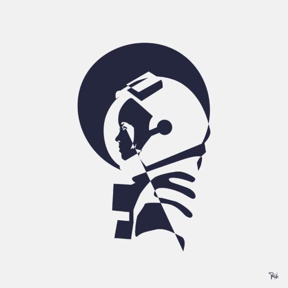 lunagirl, maanmeisje, illustratiekunst tekening, i