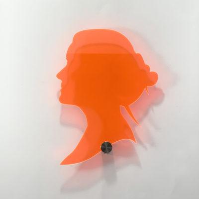 wanddecoratie persoonlijke portretten silhouet
